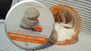 I have had this body butter for ages and I swear it fills back up each night. The fragrance is intense citrus which I love so I can't believe I haven't used this up. I keep it on my nightstand for hands and sometimes feet at bedtime. I bought this at WalMart on clearance and it's from Still.