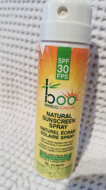 I got this Boo Bamboo spray on SPF 30 in a blogger box from M2Brand Management. It's a more natural sunscreen that I used a bit this past summer, but I know the SPF will expire over the winter so I might as well use it to protect my skin. I plan to add it to my morning skin care to use up. This was handy to take on vacation or throw in your bag to reapply.